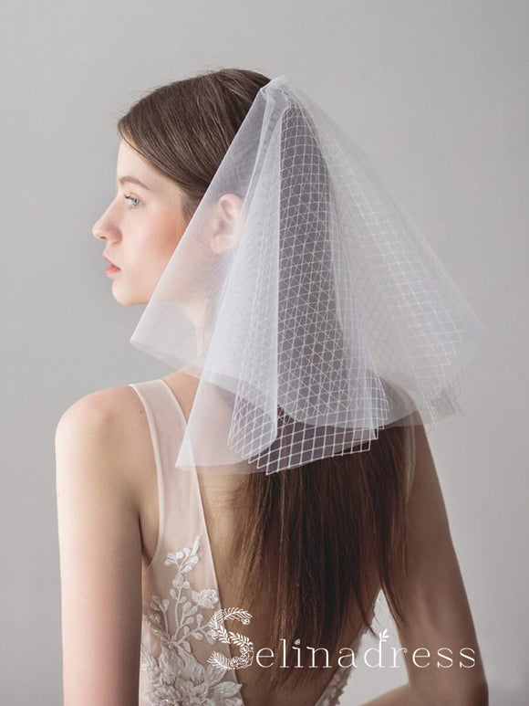 Shoulder Length Ivory Wedding Veils ALC013
