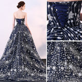 Sparkly Ball Gown Glitter Sequins Strapless Formal Dresses Court Train Evening Dresses #SED197 | Selinadress