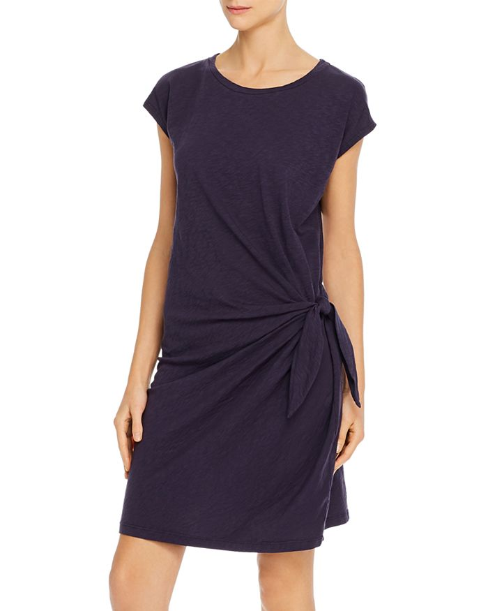 GUSSIE SIDE-TIE T-SHIRT DRESS - ShopMadisonbelle