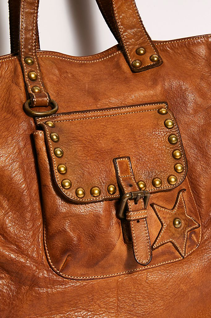 Star Leather Tote - ShopMadisonbelle