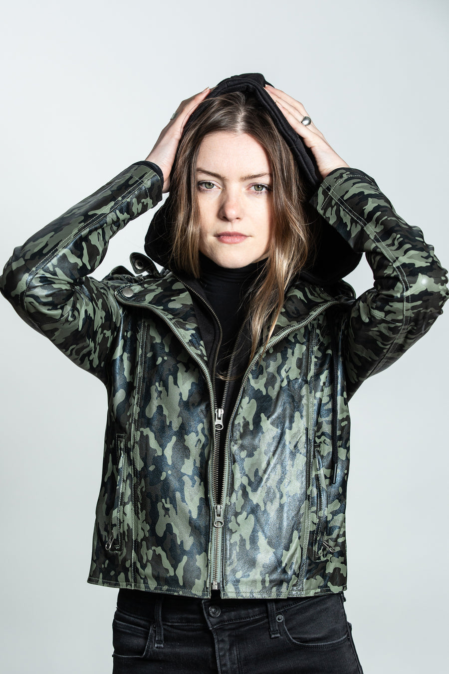 Molly Camo Print Burnished Leather - ShopMadisonbelle