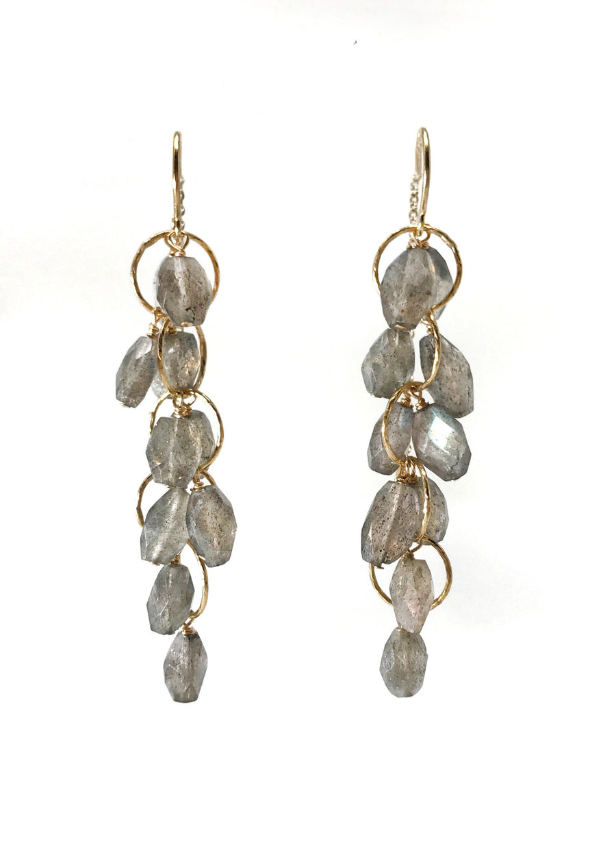 Labradorite Cluster Earrings - ShopMadisonbelle