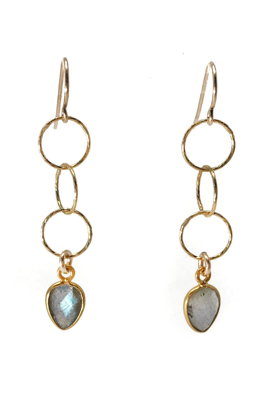 Longevity Labradorite Earrings - ShopMadisonbelle