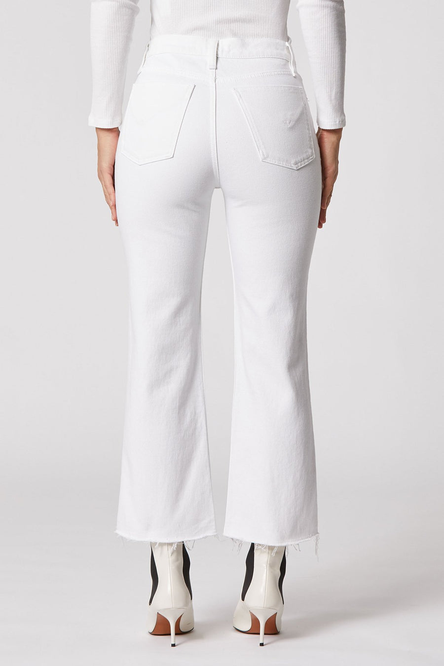Remi High-Rise Straight Cropped Jean - White - ShopMadisonbelle