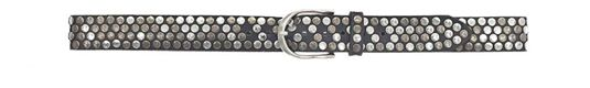Hammered Studded Belt - Navy - ShopMadisonbelle