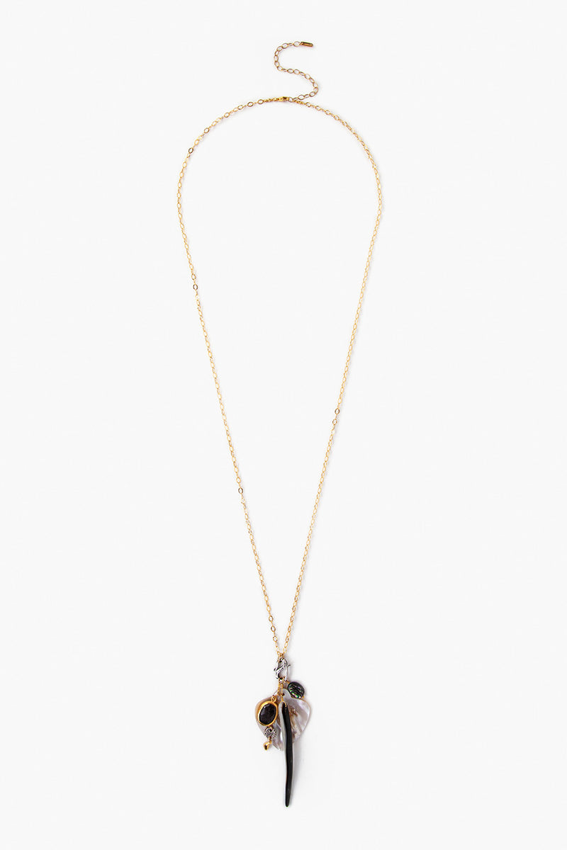 Black Mix Charm Necklace - ShopMadisonbelle