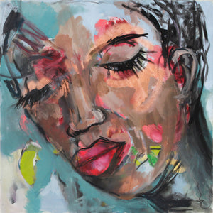 Contemplation - contemporary abstract portraits
