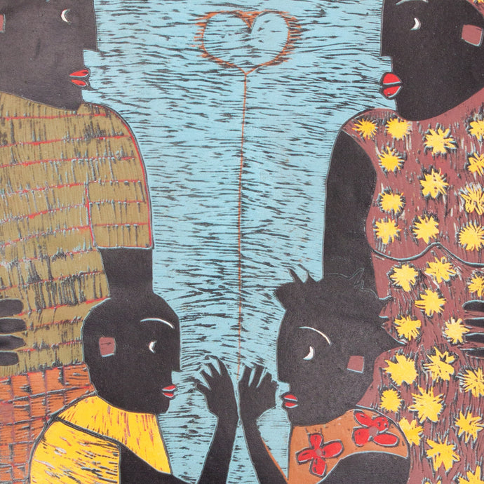 Family Harmony - famous african artwork