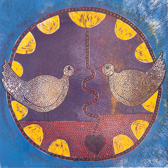 Circle of birds - south african artwork