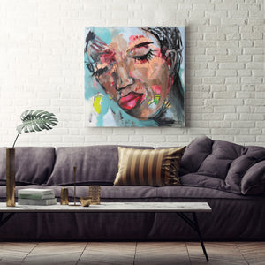 Contemplation - contemporary abstract art portraits