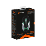 Gaming Mouse Breathing LED Backlit 800 - 2400 DPI Black & Silver