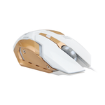 Gaming Mouse Breathing LED Backlit 800 - 2400 DPI White & Gold