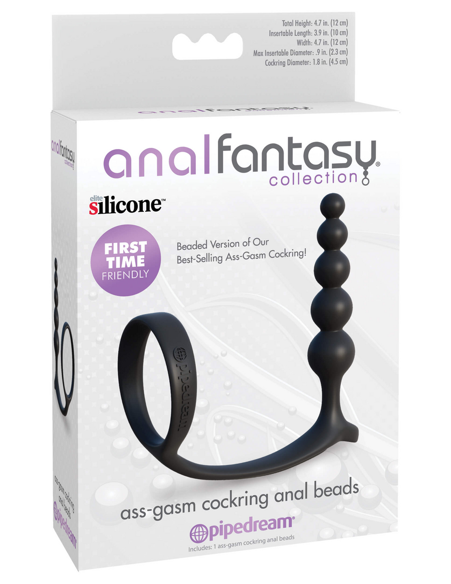 Anal Fantasy Collection Ass-gasm Cock Ring Anal Beads