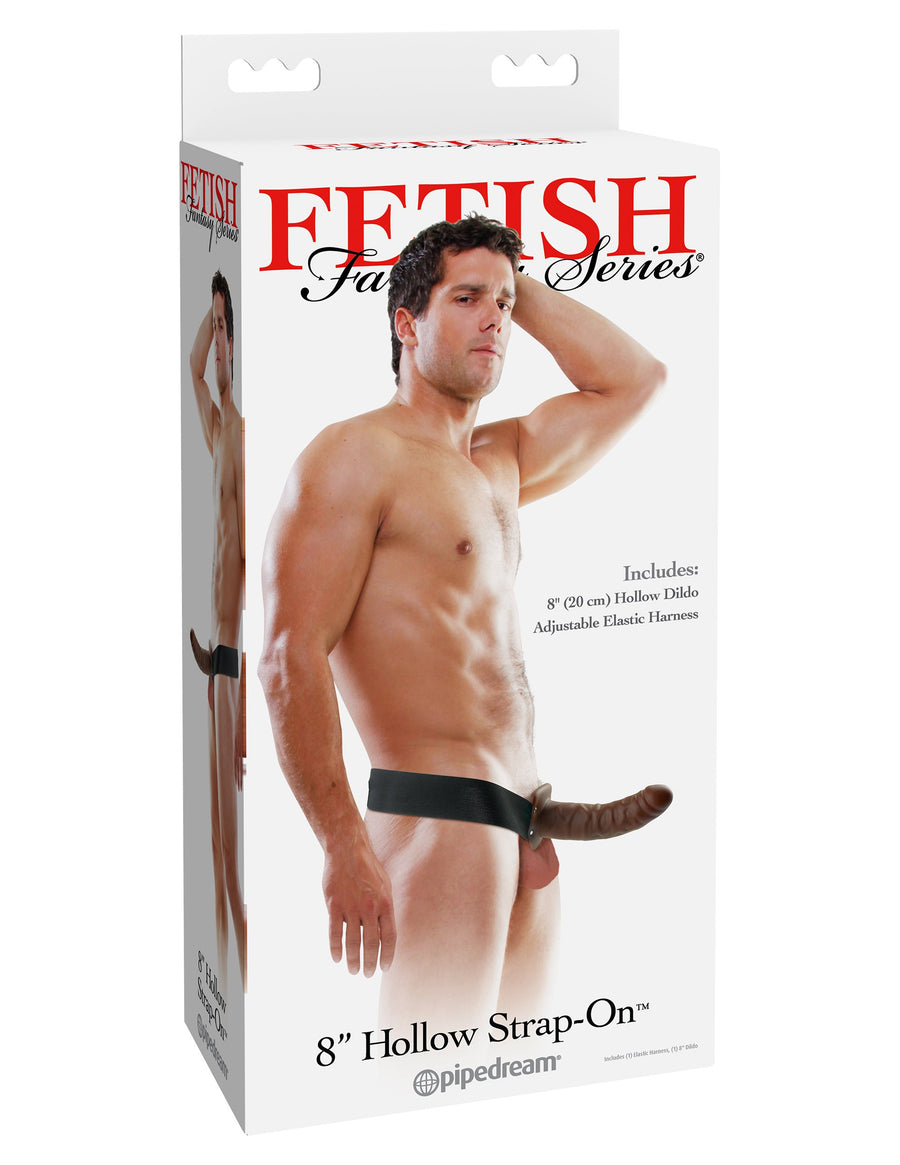 "Fetish Fantasy Series 8"" Hollow Strap-On - Brown"