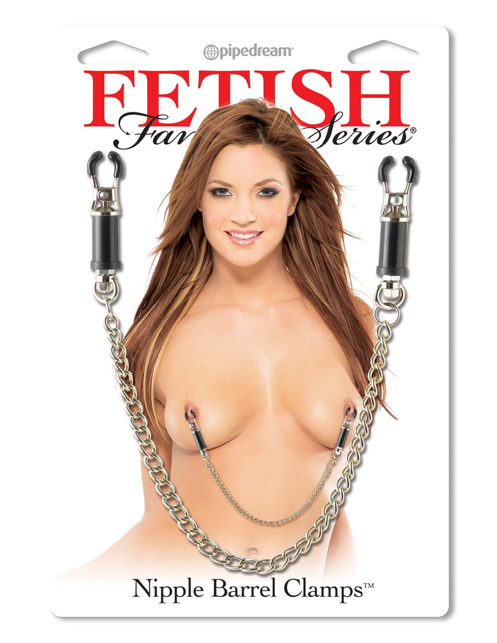Fetish Fantasy Series Nipple Barrel Clamps - Silver