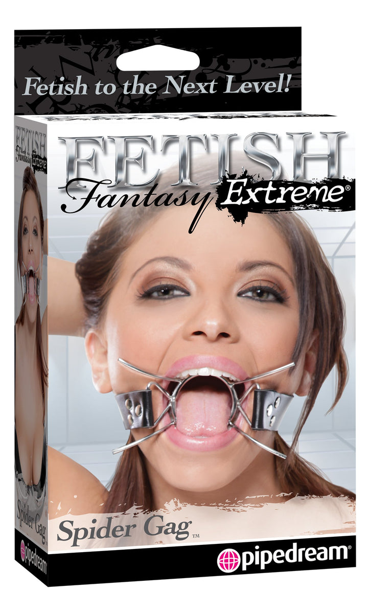 Fetish Fantasy Extreme Spider Gag - Silver/Black