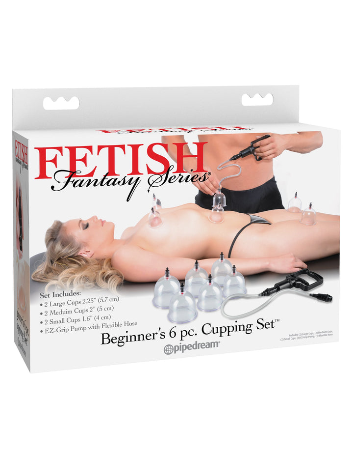 Fetish Fantasy Series Beginner's 6pc. Cupping Set - Clear/Black