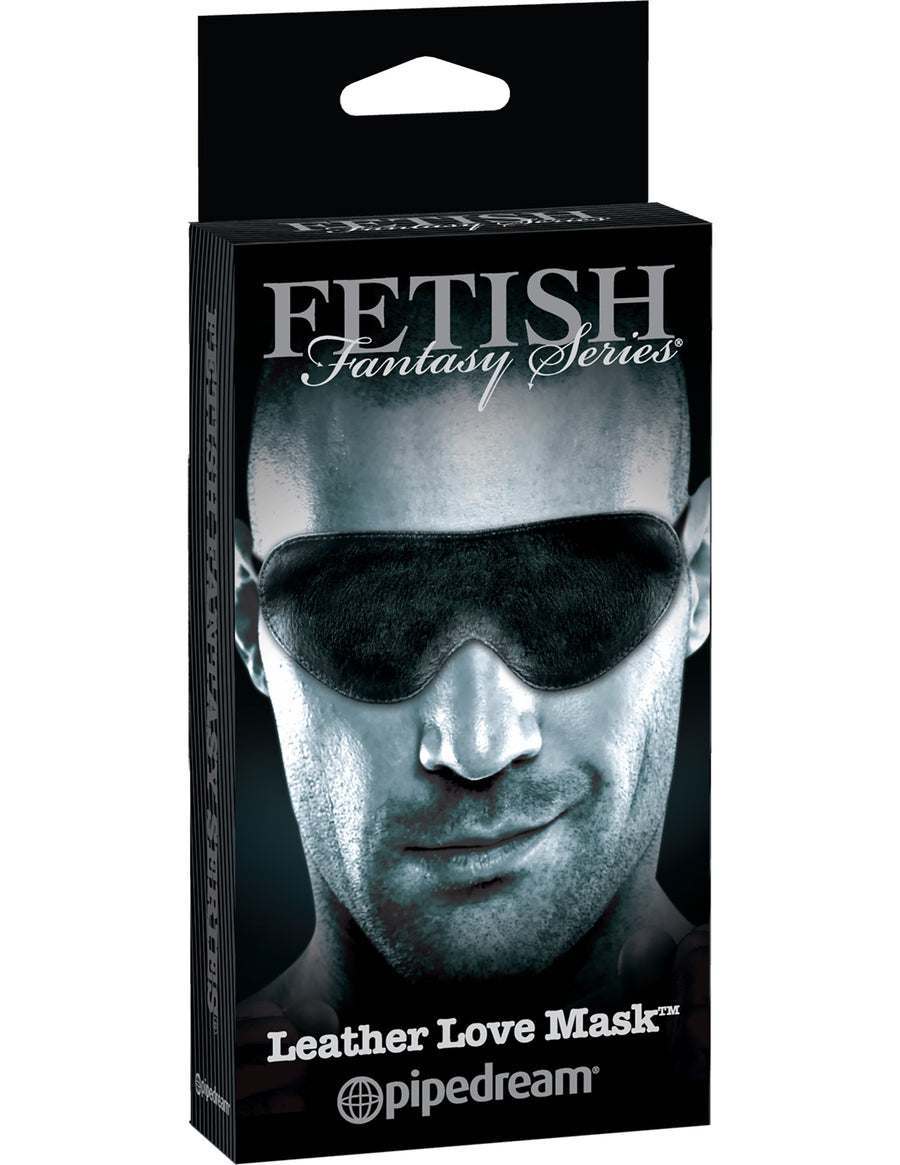 Fetish Fantasy Series Limited Edition Leather Love Mask - Black