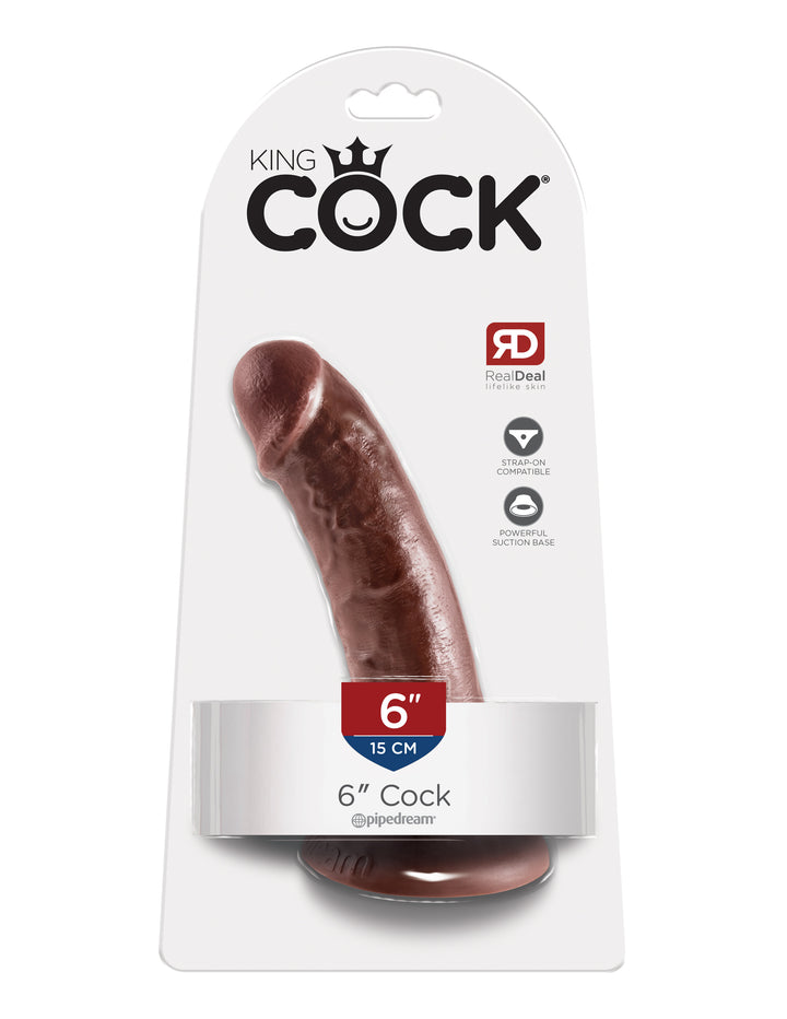 "Brown King Cock 6"" Cock"