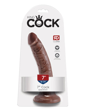 "Brown King Cock 7"" Cock"