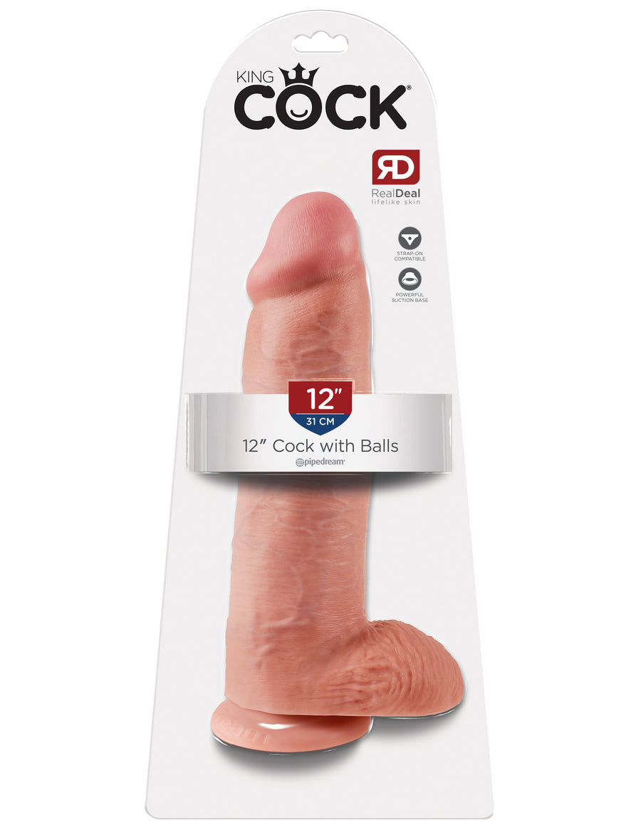 "Flesh King Cock 12"" Cock with Balls"