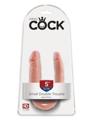 Flesh King Cock U-Shaped Small Double Trouble