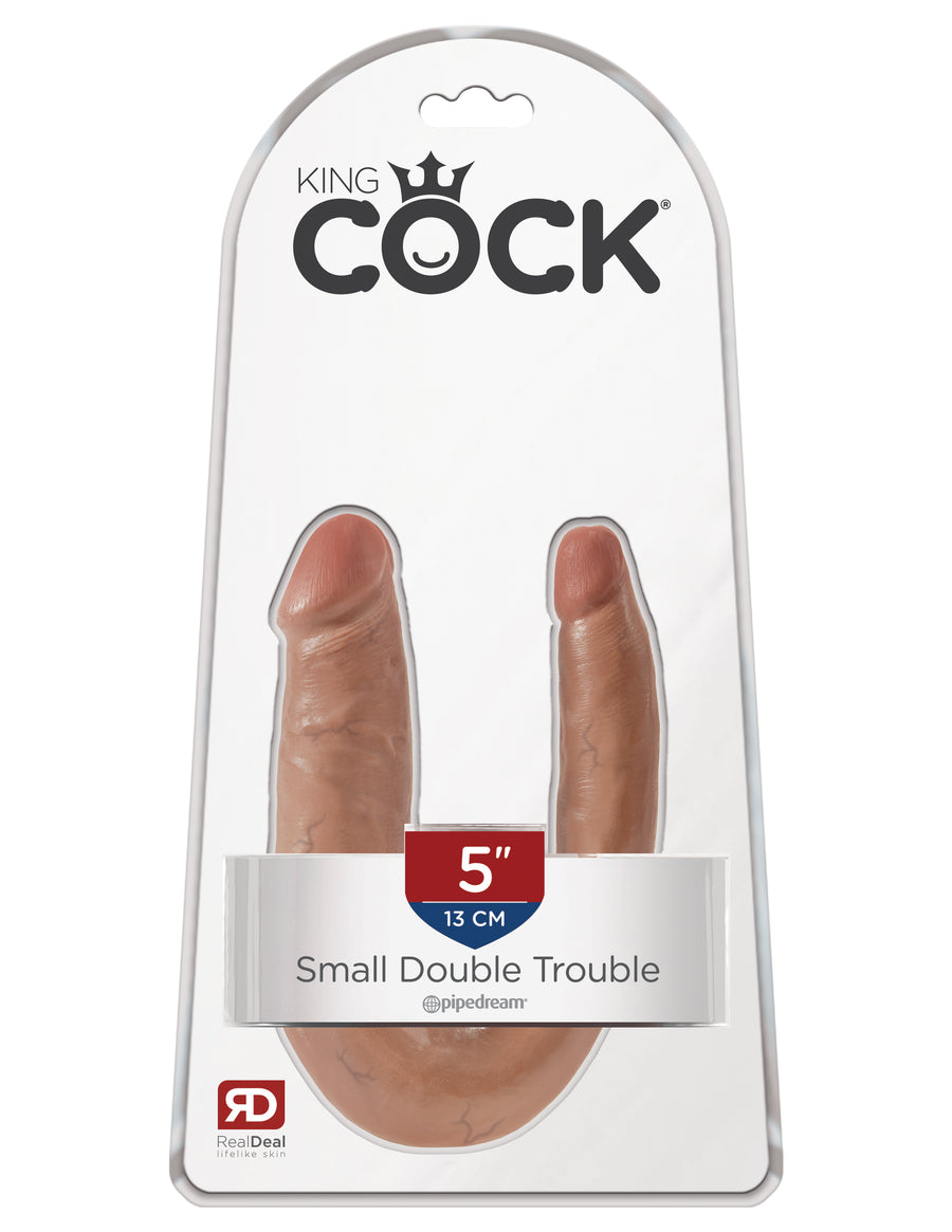 Tan King Cock U-Shaped Small Double Trouble
