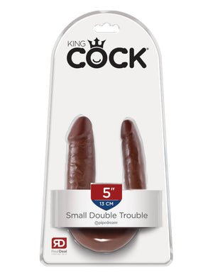 Brown King Cock U-Shaped Small Double Trouble