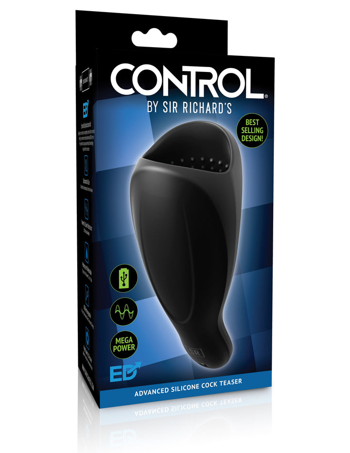 Sir Richard's Control Advanced Silicone Cock Teaser - Black