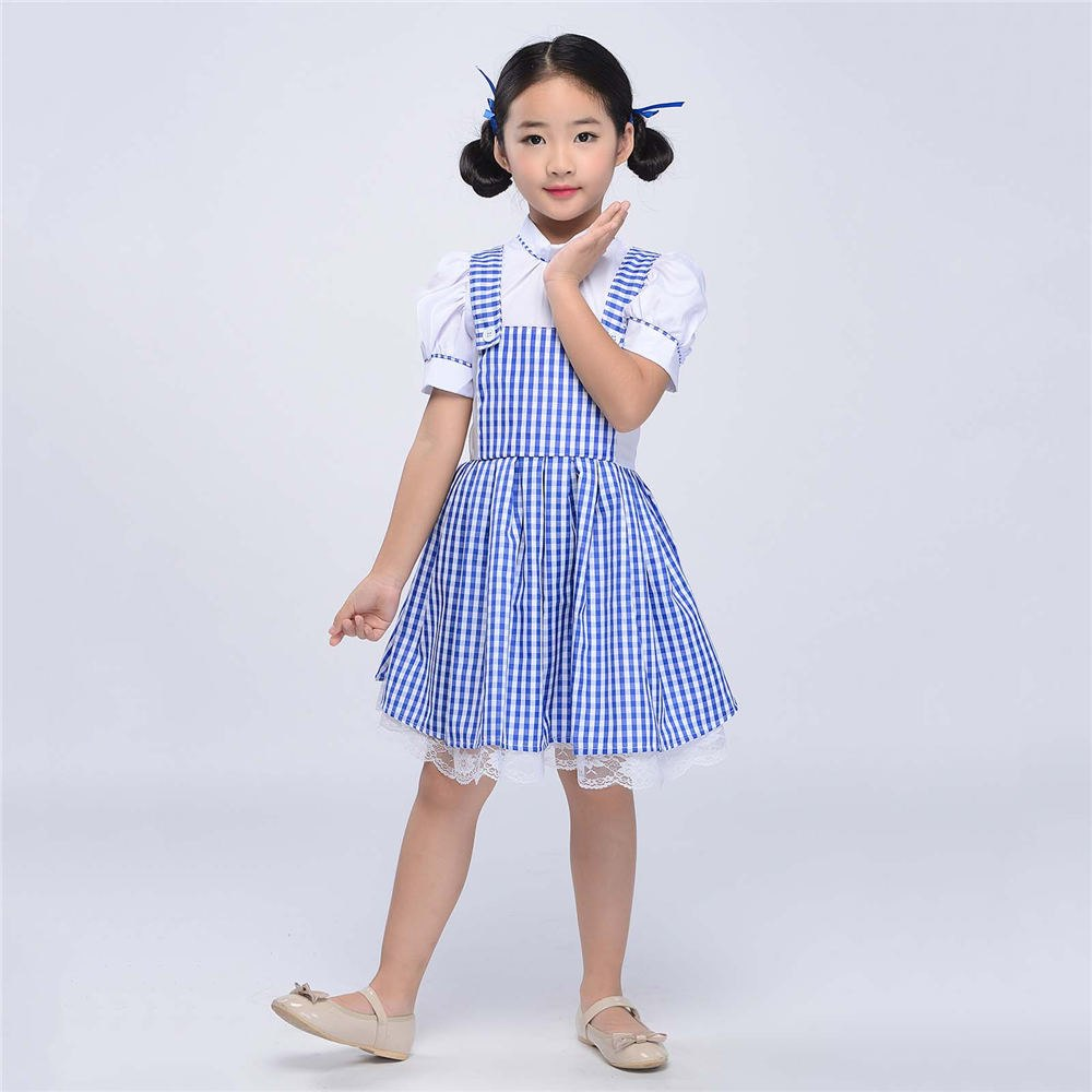 a9f33cf173 Little Girls Plaid Purple Dress Vintage Overalls Strap A-line Gingham  Strappy Suspender Pinafore Skirt Petticoat Mini Dress