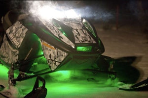 Green 4 Pcs LED Snowmobile Light Set 12v