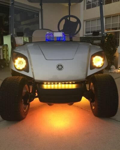 Amber 4 Pcs LED Golf Cart Light Set 12v