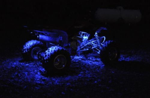 Blue 4 Pcs ATV UTV 4 Wheeler LED Light Set