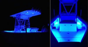 Blue 4 Pcs LED Boat Lights 12v Waterproof