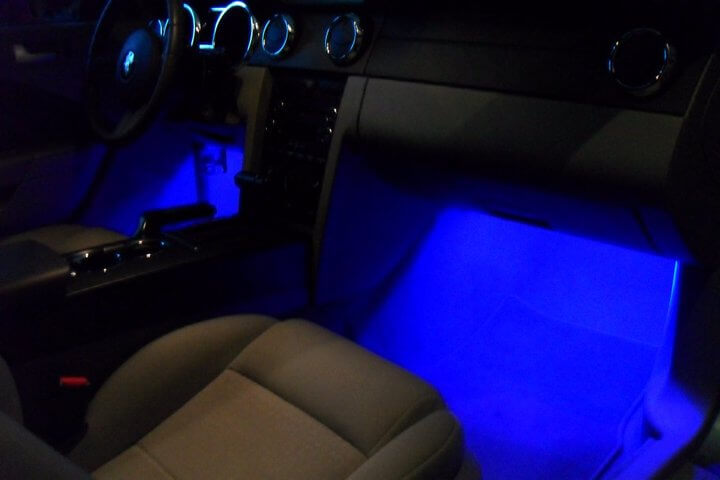 Blue Under Dash Footwell LED Light Set