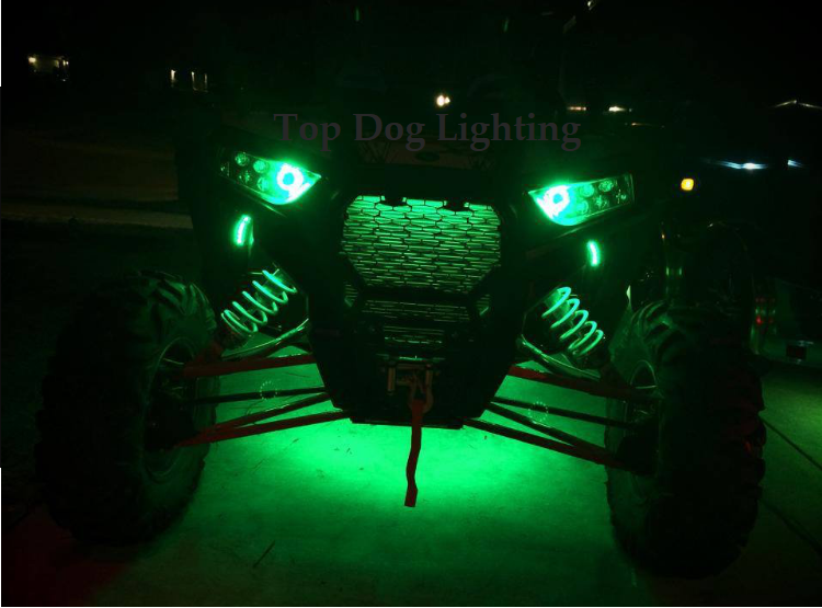 Green 4 Pcs ATV UTV 4 Wheeler LED Light Set