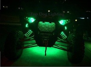 Green 4 Pcs Atv Utv 4 Wheeler Led Light Set Top Dog Lighting