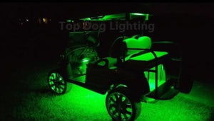 Green 4 Pcs LED Golf Cart Light Set 12v
