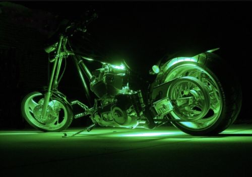 Green 2 Pcs LED Motorcycle Engine Light Set
