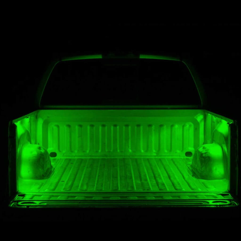 Green 4 Pcs LED Truck Bed Light Set 12v