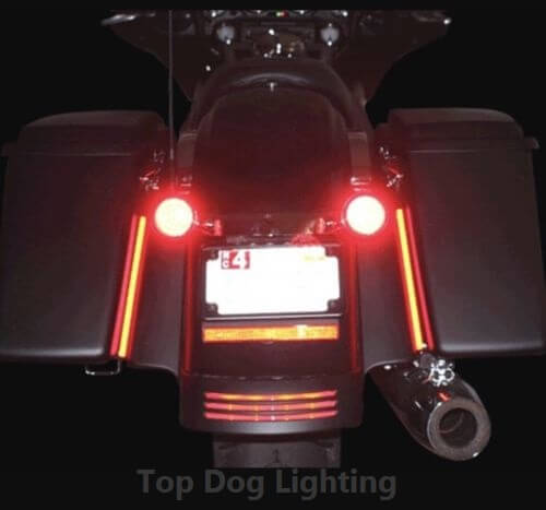 Pair LED Rear Marker Brake Light 12v