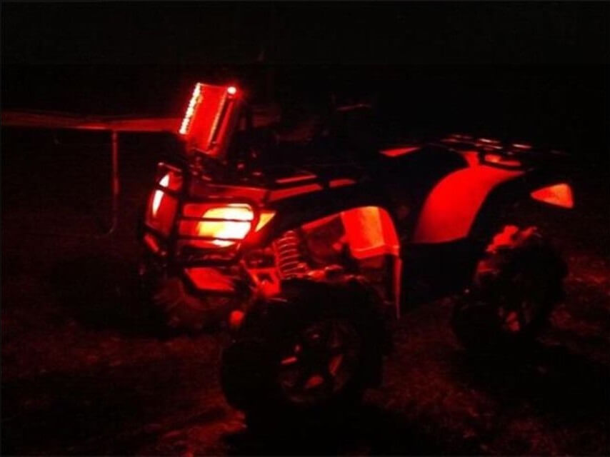 Red 4 Pcs ATV UTV 4 Wheeler LED Light Set