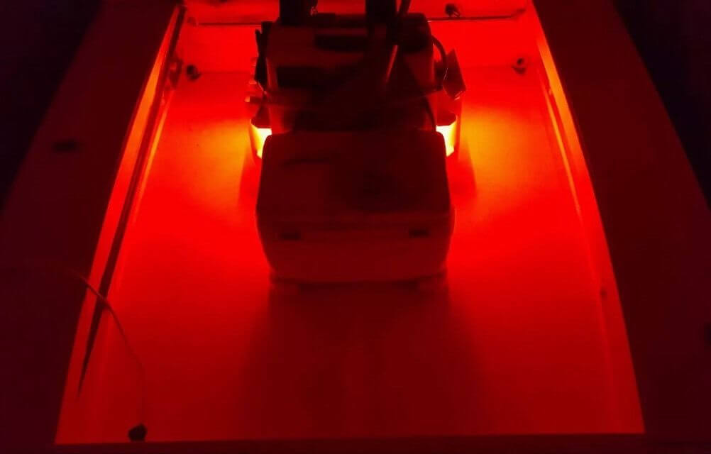Red 4 Pcs LED Boat Lights 12v Waterproof