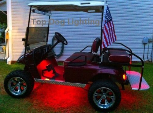 Red 4 Pcs LED Golf Cart Light Set 12v
