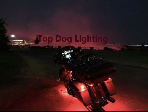Red 4 Pcs Motorcycle LED Underglow Light Set