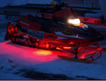 Red 4 Pcs LED Snowmobile Light Set 12v