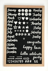 Felt Letter Board Bundle 12x18