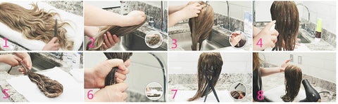 how to wash a wig-double show hair