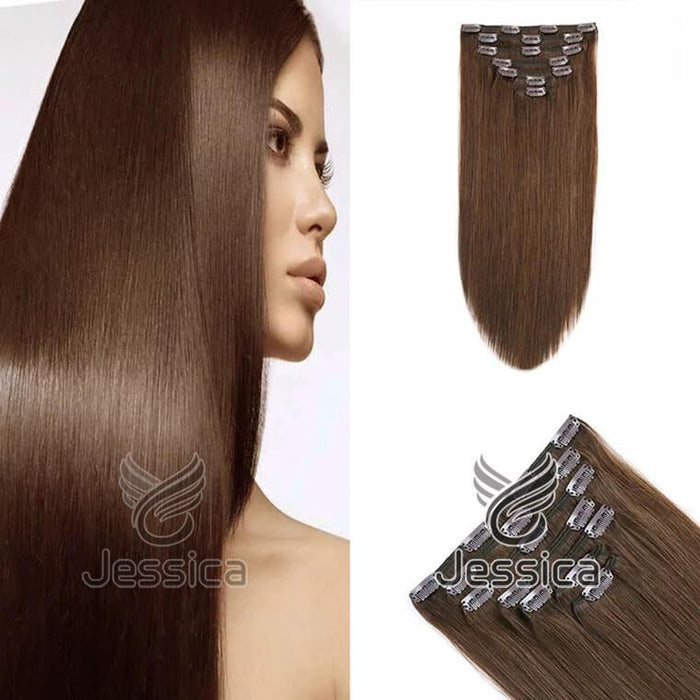 16 Inch Clip In Hair Extensions Best Remy Hair - Double Show Hair