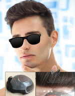 Lace Front Indian Remy hair Men toupee - Double Show Hair